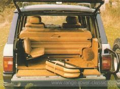 Range Rover Conversions - Range Rover Classic Here is the removeable 4-seat arrangement at rear clearly show