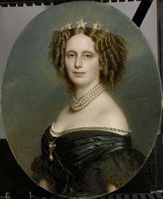 Sophia Frederika Mathilda (1818-77), prinses van Württemberg. Eerste echtgenote van Willem III, koning der Nederlanden, Franz Xaver Winterhalter, 1863 - 1873