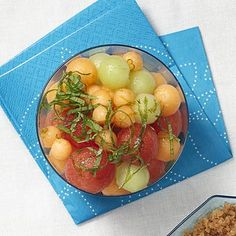 Melon Salad with Lime-Ginger Syrup: This fruit salad recipe is light and easy to make. | Health.com