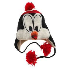 chilly willy knit hat // need Ipad Accessories, Fashion Accessories, Crochet Projects, Sewing Projects, Knit Crochet, Crochet Hats, Ski Hats, Betsey Johnson, Penguins