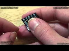 Video: How to tie off the thread and add new thread by Sara Spoltore.  #Seed #Bead #Tutorials