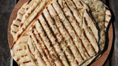 Grilled Lebanese Flatbread (man 'oushe) by Mark Bittman - takes 1 1/2 hours (www.ChefBrandy.com)