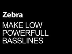 nice U-he Zebra - Make Low Powerful Basslines - How To Tutorial VST Free Download Crack