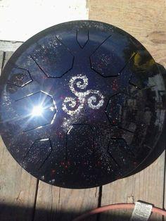 """LOTUS DRUM - 16"""" Handmade Handpan -  steel tongue drum hank halo handpan tank drum hand pan ufo spacedrum by LotusDrum on Etsy https://www.etsy.com/listing/194059685/lotus-drum-16-handmade-handpan-steel"""