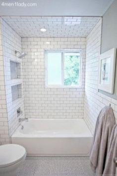 Inspiring Subway Tiles Bathroom Remodel Renovation \u0026 50 Best Ideas & 20 Stunning Small Bathroom Designs   Pinterest   Grey white ...