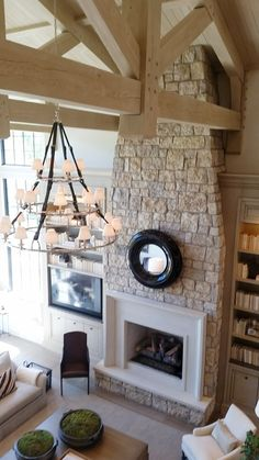10 Design Trends that will Update Your Home - Lindsay Hill Interiors Source by Living Room With Fireplace, Living Room Decor, Fireplace Wall, Fireplace Mantels, Mantle, Modern Farmhouse, Farmhouse Style, Milton House, Farmhouse Paint Colors