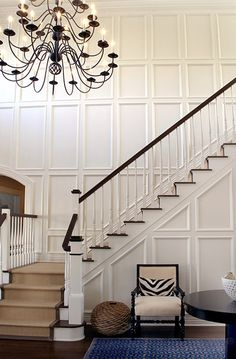 Tom Scheerer Design We absolutely love hearing from all of you, our chic, fabulous readers! When one of you emailed us recently to ask us to do a post about art for the staircase, we couldn't have been more thrilled! As it turns out, we are working on art for the staircase of the Beaufort …