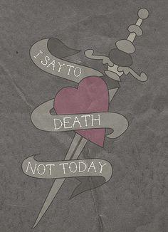 Game Of Thrones Quote Art Print Tattoo Style #AryaStark