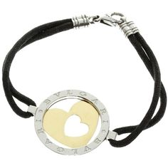 preowned bvlgari 18k yellow gold tondo heart bracelet sar liked