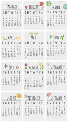 Libre para imprimir 2015 Desktop Calendar