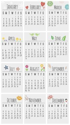 Free Printable 2015 Desktop Calendar