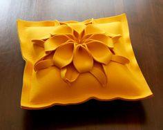 Wool Felt Handmade Pillow