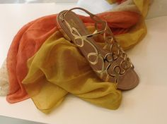 Wear glamour from beach to BBQ this summer with our gold sandals. Perfect with a maxi dress for a tropical touch.