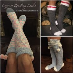 CROCHET PATTERN - Coziest Reading Socks PLEASE READ: ** THIS LISTING IS NOT FOR FINISHED SOCKS, it is for an instant download PDF Crochet Pattern to make the socks shown. ** Due to the nature of digital downloads there is no refund on digital products as they cannot be returned.