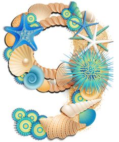Transparent Number Nine Sea Style PNG Clipart Picture