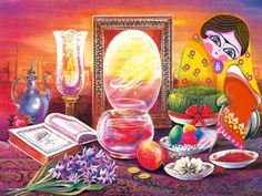 Nowruz (Persian New Year Holiday) and Haft Sin (Iranian Symbols for New Year)