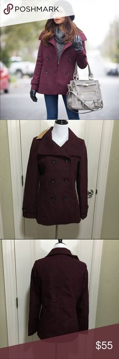 NWT Thread &Supply Maroon Peacoat Never worn, in perfect condition! Offers through offer button. Runs a little small. Nordstrom Jackets & Coats Pea Coats