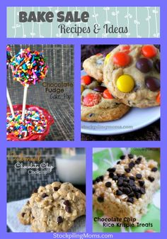 12 Bake Sale Recipes - these are sure to make your sale a success! Sweets Recipes, Just Desserts, Cake Recipes, Snack Recipes, Cooking Recipes, Party Recipes, Bake Sale Treats, Bake Sale Recipes, Yummy Treats