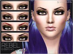 Pralinesims' Rebel Eyebrows NOT SHAVED