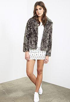 Boxy Faux Fur Jacket