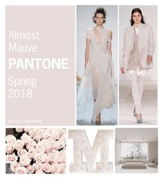 """Almost Mauve Spring 2018"" by yourstylemood on Polyvore featuring мода, Victoria Beckham, Heidi Swapp, springtrends, pantone, springcolours и spring2018"