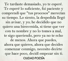 Pretty Quotes, Sad Love Quotes, Love Yourself Quotes, True Quotes, Book Quotes, Qoutes, Sad Texts, Love Phrases, Spanish Quotes
