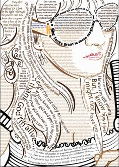 Another great typography illustration (self-portrait):  Soulful Songs. by Kelsey Rousseau, via Behance