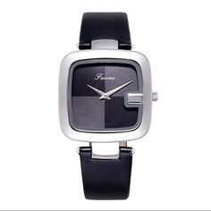 Watch name: Square Dial Casual Women's WatchWatch case: Alloy caseWatch strap: Leather strapWatch movement: Japanese movementWaterproof: For daily waterproof use onlyProduct size: Dial diameter: Thickness: Best Watches For Men, Cool Watches, Best Watch Brands, Vintage Watches Women, Professional Women, Square Watch, Apple Watch, Men Casual, Confidence