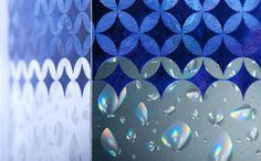 Multiple foil methods; opal finish, blue foils, gradient foils. Different textures. www.kurzusa.com