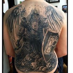#soldierofGOD #tattooideas #Backtattoo #Done By @ciglatattoo Want your own cable channel on OVNIO? Email us TEAMOVNIO@gmail.com www.OVNIO.tv  Go get #piercings by #covermodel >> @fancytattoo >> #latininkmagazine #latininkapp #latininkmovement #latininkmag @LatinINKmvmt #LatinINKtv #Ovnio #OvnioTV