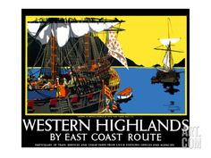 Western Highlands by East Coast Route, LNER Poster Giclee Print by Frank Mason at Art.com