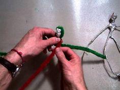 Creating Giacometti like figure and Wrapping Aluminum Foil around the Le...