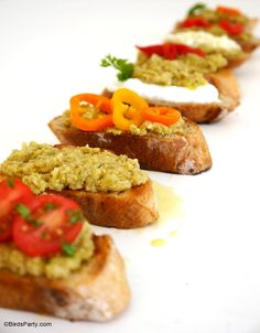 Party food appetizer recipes for the Holidays!