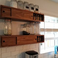 Rustic wood floating shelf with hidden compartment & magnetic lock, rustic home decor, rustic shelves, wood shelf,farmhouse floating shelf Rustic Wood Floating Shelves, Wood Shelves, Pipe Shelves, Corner Shelves, Shelving, Hidden Compartments, Secret Compartment, Hidden Shelf, Rustic Nightstand