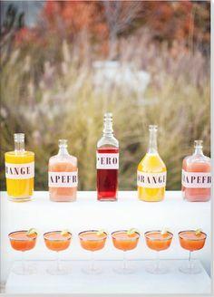 homemade juice tasting party! Really like the idea