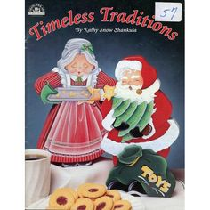 Timeless Traditions Santa Candy Cane Holder Ornaments etc Christmas Tole Painting Patterns