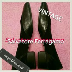 SALEVintage! SALVATORE FERRAGAMO Leather and Suede OLD!! Bella! Salvatore Ferragamo Leather and suede flats.Super old, but still in great shape. There is normal.wear and tear. I'm not even sure what year these are, but they're very old. Maybe even antique. Minor cracking in shoe liner from old age where shoe bends. Barely. You'll never feel it. They're in great shape. Super cute too! They're tiny! Hand written Serial well as Numbers in the shoe along the rim inside. The outsides of the shoes…