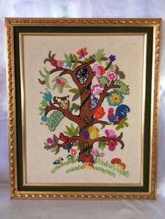 Woodland Creatures Woodland Nursery Wall Hanging Embroidery.