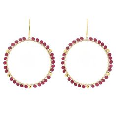 Hallie Earrings in Ruby | Emily Elaine Designs