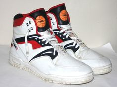 b1e0ce4e32d Vintage 1980s 1990s Trax High Top T495 Basketball Shoes Mens Size 11 Bi Way