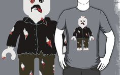 """""""Zombie Minifig by Customize My Minifig"""" T-Shirts & Hoodies by ChilleeW   Redbubble"""