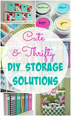 Cute and Thrifty DIY Storage Solutions at The Happy Housie