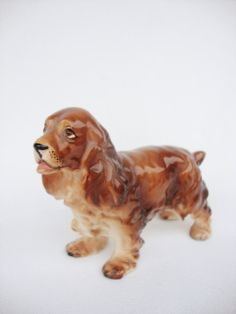vintage cocker spaniel dog ceramic figurine
