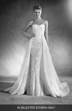 fe1077a2cd7c Atelier Pronovias Edith Strapless Lace Gown