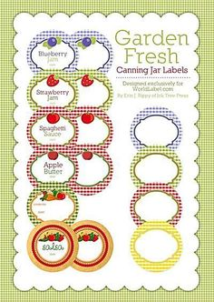Add a Finishing Touch to Your Canning Jars with These Free Labels: Garden Fresh Canning Jar Labels by Ink Tree Press