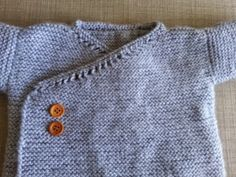 lanitasypapel.blogspot.ca  Easy pattern free knitting baby kimono jacket Chaquetita de bebe cruzada facil de tejer para principiantes -  patrón gratis