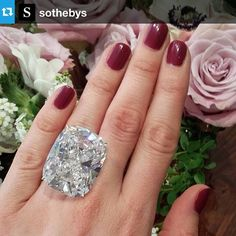 A subtle diamond ring headed to Sotheby's. (70.33 carats!!!!)  wow