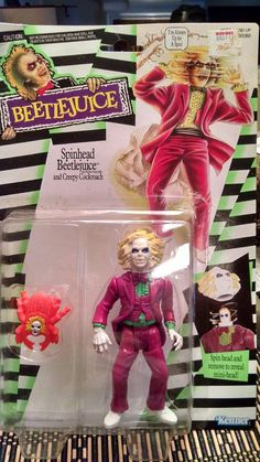 Spinhead Beetlejuice Action Figure 1989 Kenner. by ClarendonCourt