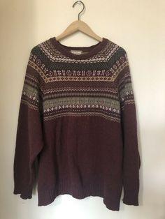 2f7f4e7715 Vintage Thomas Burberry Knit Sweater Long Sleeve Men Size XL  fashion   clothing  shoes