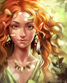 "Elves Faeries Gnomes: ""Elf,"" by *sharandula, at deviantART. Arte Digital Fantasy, Digital Art, Fantasy Magic, Fantasy Art, Character Portraits, Character Art, Zelda Cosplay, Elf Druid, Elfa"